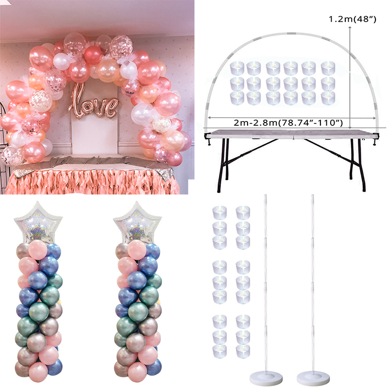Table Balloon Arch Set Balloon Column Stand for Wedding Birthday Graduation Party Balloons Accessories Baby Shower Decorations 1