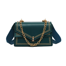 brand designer crossbody bags for women 2019 fashion shoulder bags new rivet messenger bags luxury handbags women bags  blue new brand womens handbags fashion lady rivet real genuine leather bags for women shoulder crossbody messenger sheepskin bags