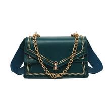 brand designer crossbody bags for women 2019 fashion shoulder new rivet messenger luxury handbags  blue