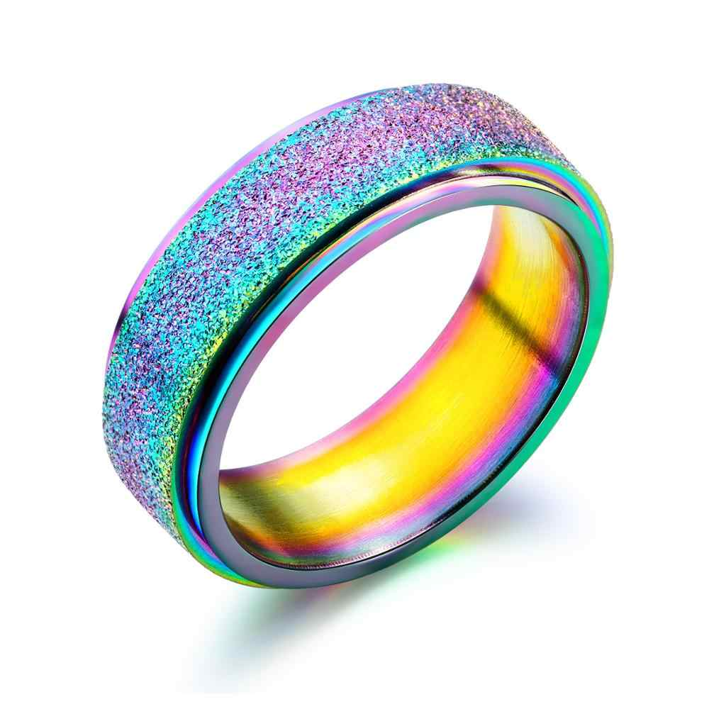 SIZZZ แฟชั่นบุคลิกภาพชาย titanium steel นักเรียน street แหวน