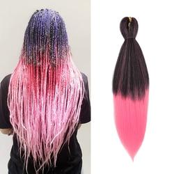 Valenperruques pré-étiré tressage cheveux Yaki droite EZ tresses synthétique Crochet tressage Extensions de cheveux Jumbo tresse pour les femmes