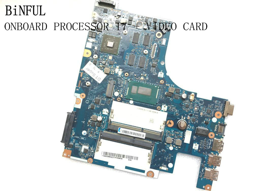 BiNFUL AVAILABLE ACLU1 / ACLU2 NM-A271 MIANBOARD FOR LENOVO G50-70 MOTHERBOARD WITH ONBOARD I7 PROCESSOR +VIDEO CARD