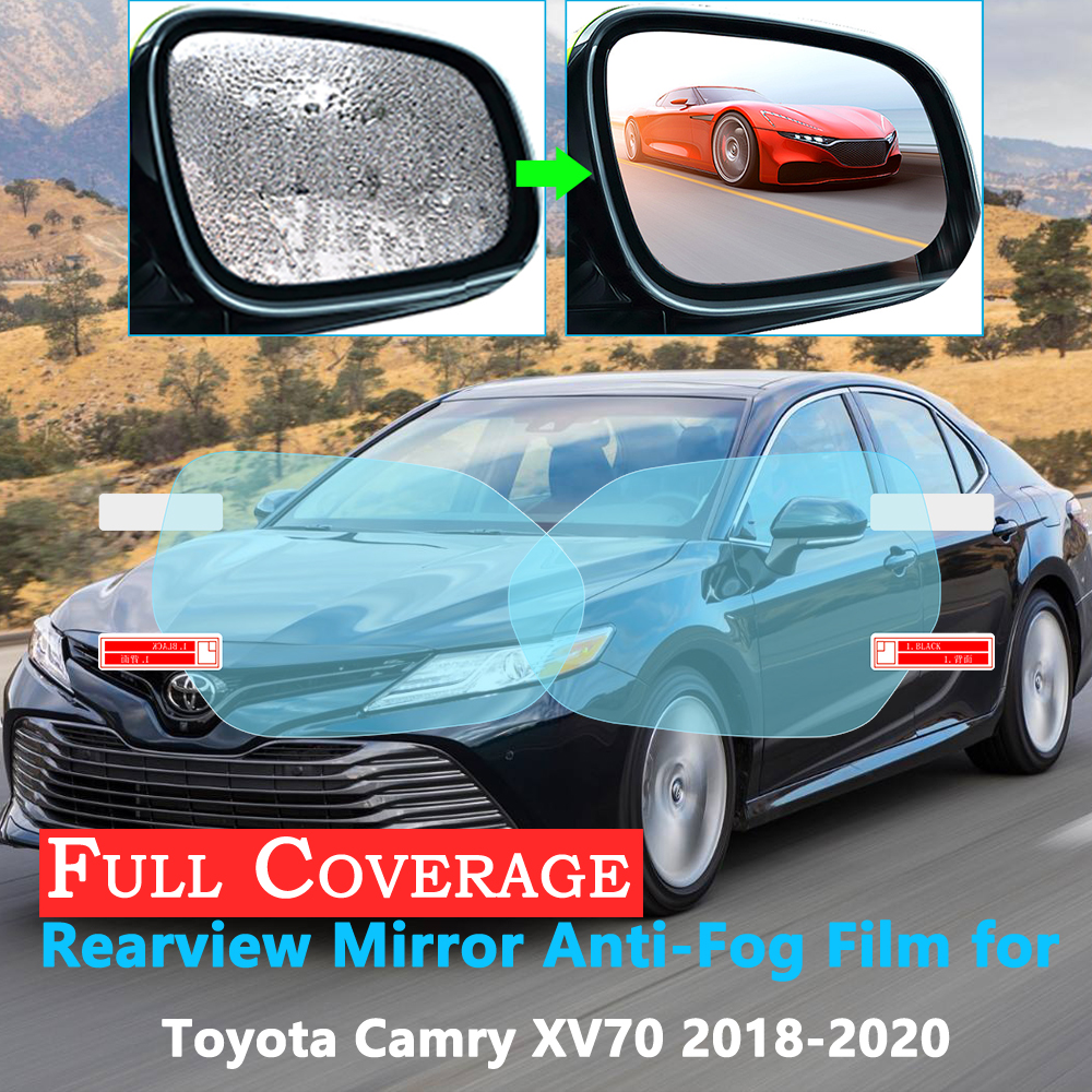Full Cover Protective Film For Toyota Camry XV70 2018 2019 2020 Car Rearview Mirror Rainproof Anti-Fog Films Accessories XV 70