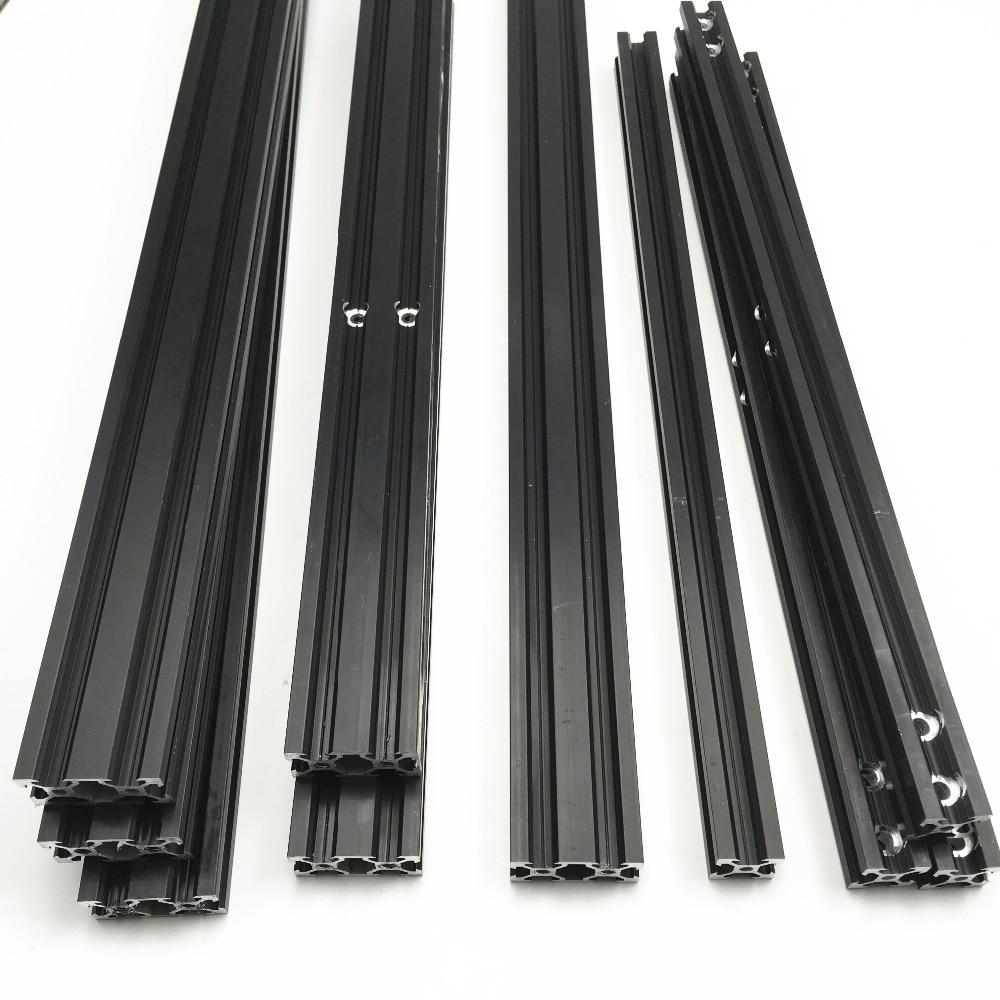 Funssor 300x300x400mm CR-10/Tornado 3D Printer Black Anodized Aluminum Extrusion Frame Kit  V-slot Mechanical Frame Set