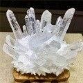 Натуральный прозрачный белый кварцевый точечный Кристалл кластер целебный минеральный образец