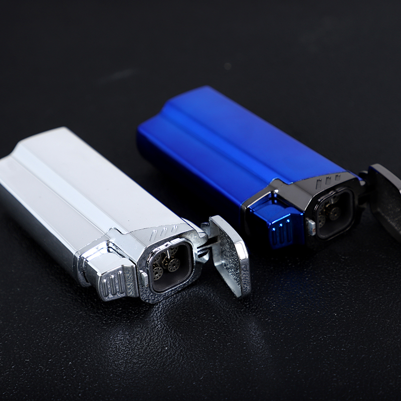 Four Torch Lighter High Cigar Cigarettes Lighter Gadgets For Men Electronic Lighters Smoking Accessories Metal Gas Lighter in Matches from Home Garden