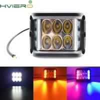 1Pcs Dually 4 Zoll 60W Cube Seite Shooter LED Arbeit Licht Strobe Fahren Für Offroad Lkw Traktor SUV ATV 4WD Boot 4x4|LED-Birnen & Röhren|Licht & Beleuchtung -