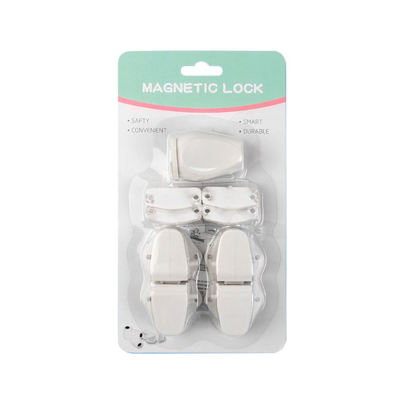 Child Safety Magnetic Cabinet Locks 4 Pack Adhesive Baby Proofing Drawer Latches