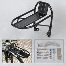 Aleación de aluminio MTB Ciclismo de Carretera bicicleta delantera Rack Panniers bolsa estantería para equipaje soporte tronco para piezas de bicicleta