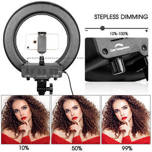 "Image 4 - Capsaver 14 ""LED Ring Licht Ring Lampen Make Up Licht mit Stand Stativ Bi farbe 3200K 5500K Ringförmige Lampe für Video YouTube Foto"
