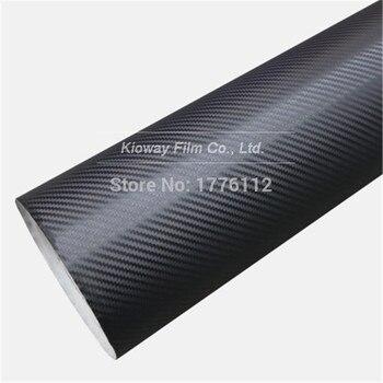 Silver white black 3D Carbon Fiber Vinyl With Air Channle Carbon Fibre Car Wrap Film Vehicle laptop skin 1.52x28m/Roll