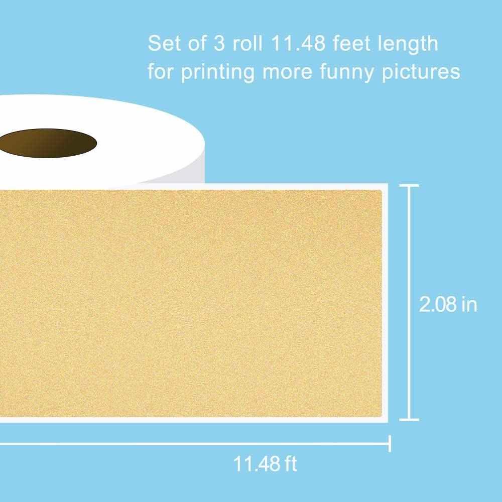 Carattere Nero su Ananas//Punto Piccolo//Girasole 3 Rotoli di Ogni Tipo 15 mm x 3,5 m Totale 9 Rotoli Phomemo Rotolo di Carta Termica Adesiva per Mini Stampante Termica Phomemo M02S