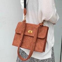Casual Matte Pu Small Flap Bags Women Shoulder Bags Fashion Metal Buckle Messenger Bag Retro Composite Tote Ladies Crossbody Bag недорого