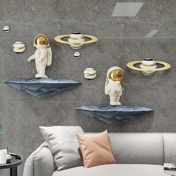 [HHT] astronauta niebiańskie ciało statua wisiorek Nordic Home dekoracje ścienne salon dekoracyjna aranżacja ściany z telewizorem żywica przestrzeń Mural tanie i dobre opinie CN (pochodzenie) Ludzi Żywica
