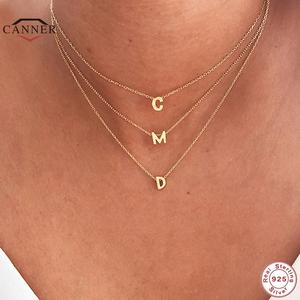 Choker Necklace Fine-Jewelry Round 925-Sterling-Silver CANNER Minimalist 26-Letter American