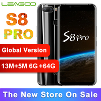 Global Version LEAGOO S8 Pro 6GB 64GB 5.99'' Display Mobile Phone Octa Core 13MP Dual Cameras Fingerprint ID 4G Smartphone