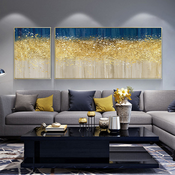 EECAMAIL Diamond Painting Living Room Simple Modern Abstract Art 5D Diamond Embroidered Two Paintings Light Luxury Diamond