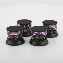 Audiocrast – support disolation de haut parleurs à ressort en aluminium noir, 4 pièces, pour amplificateur HiFi/haut parleur/platine/lecteur
