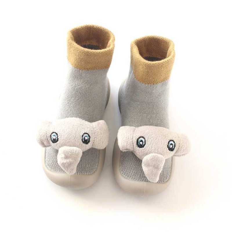 Newborn Baby Boys Girls Cartoon Floor Warm Socks Anti-Slip Baby Step Shoes Socks