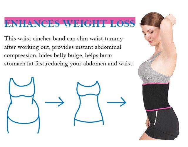 Neoprene Shaper Slimming Fat Burning Waist Support Fitness Waist Sweat Belt For Men Women 4