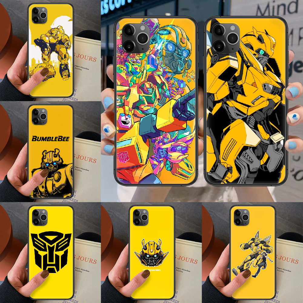 Transformers Bumblebee Phone Case For Iphone 4 4s 5 5S SE 5C 6 6S 7 8 Plus X XS XR 11 12 Mini Pro Max 2020 black Waterproof