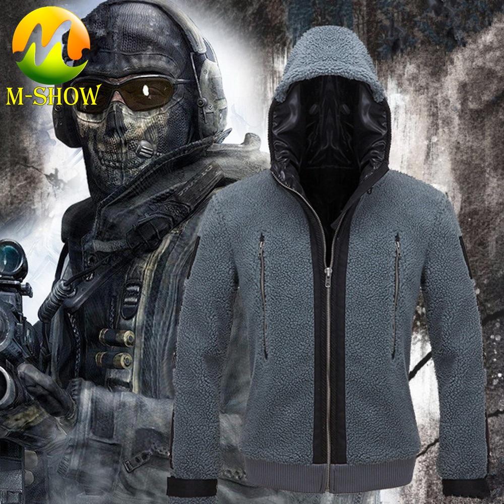 Jacket Hoodies Team-Uniform Battle-Suit Cosplay-Costume Game-Call Duty Adult Women Ghost