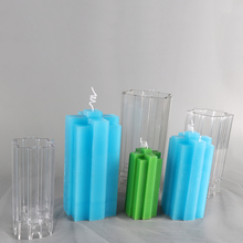 DIY pray candle making molds 7.5*7.5*15.5cm big size home decorative plastic molds for candles lz70b automobile cheap plastic injection molds making
