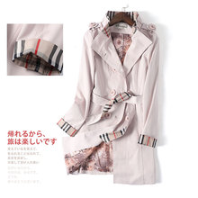 2020 Spring Fashion Lapel Temperament Double Breasted Closure Mid-length Women's Trench