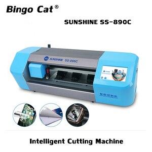 SUNSHINE SS-890C inteligentna maszyna do cięcia mobilny Tablet z funkcją telefonu przednia szklana tylna pokrywa folia ochronna taśma ochronna Cut Tool