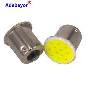 Image 3 - 100x P21W 1156 BA15S P21W LED Nhan Bóng Đèn COB 12 Chip Xe Hơi Ô Tô Trang Trí Nội Thất Đỗ Xe Kéo Phía Sau Nhan đèn 12V