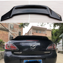 цена на for Mazda 6 spoiler 2009 2010 2011 2012 2013 2014 2015 year glossy carbon fiber/FRP rear wing R style spoiler accessories