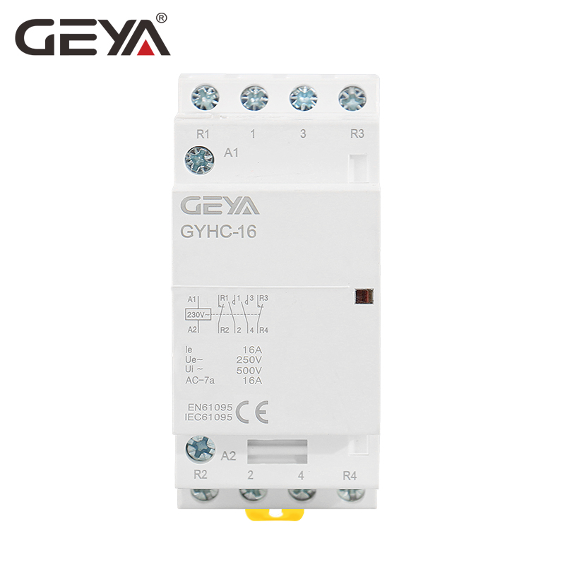 Free Shipping GEYA 4P 16A 4NO or 4P 16A 2NO2NC Contactor AC220V Household Control Switch in Contactors from Home Improvement
