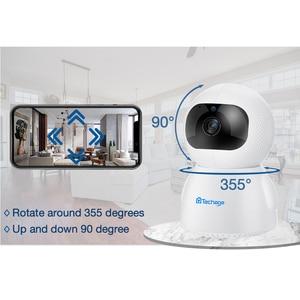 Image 2 - Techage 1080P bezprzewodowa kamera IP niania elektroniczna Baby Monitor 2MP kopułkowa wideo CCTV nadzoru dwukierunkowe Audio bezpieczeństwo w domu kamera Wifi