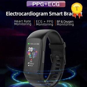 Image 1 - Beste verkauf PPG EKG smart armband blutdruck blut sauerstoff messung herz rate monitor uhr fitness tracker armband