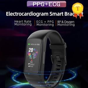 Image 1 - La migliore vendita PPG ECG braccialetto intelligente di pressione sanguigna misura di ossigeno nel sangue monitor di frequenza cardiaca della vigilanza di forma fisica tracker wristband
