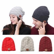все цены на Unisex Bluetooth Earphone Speaker Knitted Music Hat Cap Women Men Wireless Smart Bluetooth Knitted Winter  Music Headphones онлайн