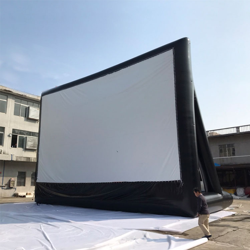 4*3m Free Shipping Inflatable Rear Outdoor Projection Movie Screen Inflatable Film Screen High Guality Yard Party TV Air Cinema