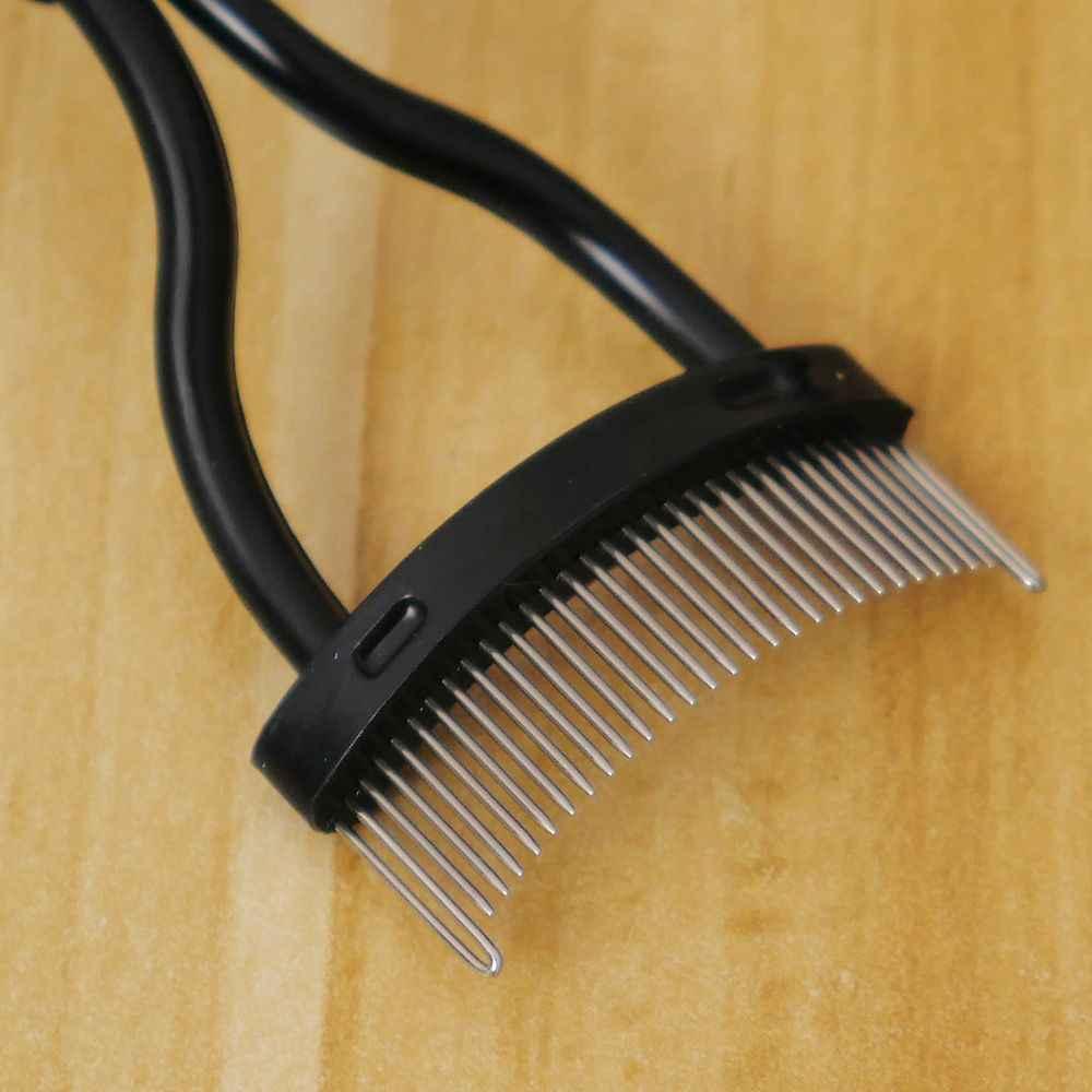 ステンレス鋼針まつげ眉毛メイクブラシ櫛黒メイクマスカラガイドアプリケーター化粧品メイクアップツール