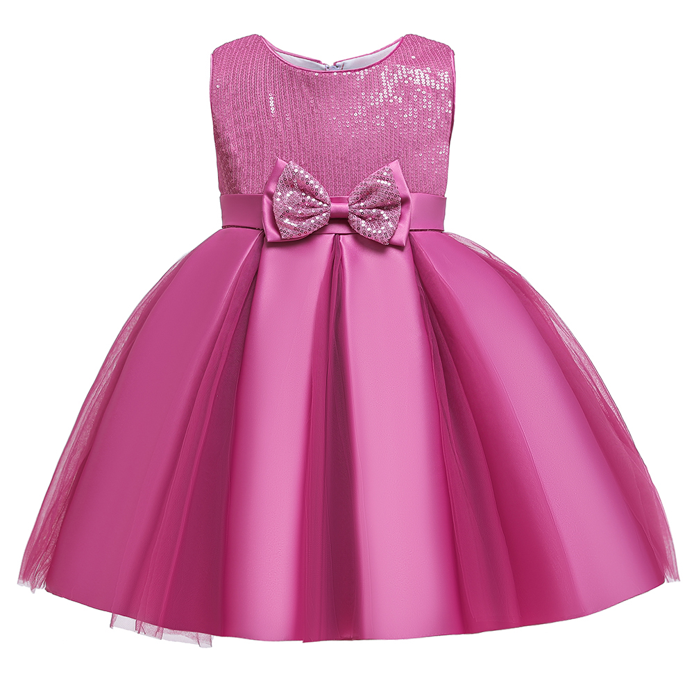 2019 Girls Birthday Dress Kids Dresses For Girls Clothing Party Tutu Dress Sequin Gown Bow Princess Dress 3-10 Years Vestidos