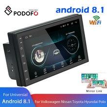 """Podofo Android 2 Din Автомобильный Радио Мультимедиа Видео плеер gps навигация 2 din """" HD Универсальный Авто аудио стерео WiFI Bluetooth USB"""