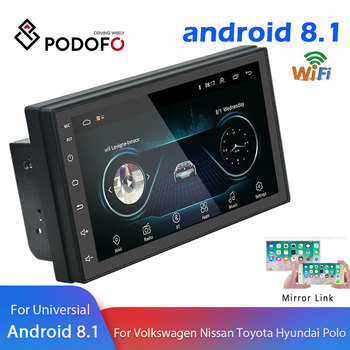 "Podofo Android 2 Din autoradio multimédia lecteur vidéo GPS Navigation 2 din 7 ""HD universel auto Audio stéréo WiFI Bluetooth USB"