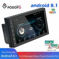 "Podofo Android 2 Din Car radio Multimedia Video Player GPS Navigation 2 din 7"" HD Universal auto Audio Stereo WiFI Bluetooth USB"