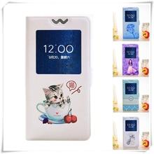 Open View Window Case for Acer Liquid Jade Primo Z6 Plus Z330 Z530 Zest 4G Z528 Z525 Flip Cover Cartoon Painting Magnetic Case цена 2017