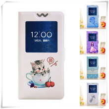 Open View Window Case for Apple iPhone 4 4S 5 5S SE 6 6S Plus 6P 6SP PU Leather Cat Cartoon Painting Flip Cover Magnetic Case стоимость