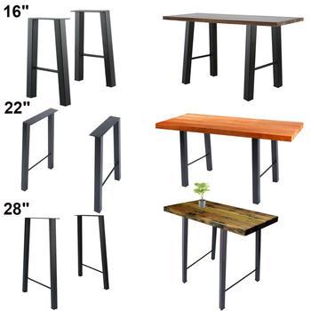 """16"""" 22'' 28"""" Industry Table Leg Metal Steel Chair Bench Legs DIY furniture 1 set"""
