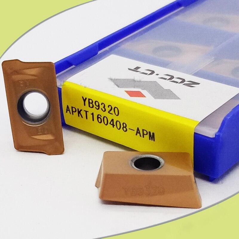 Original ZCC APKT160408-APM YB9320 APKT 160408 CVD Carbide Milling Insert Positive Blade Carbide Inserts Lathe Tools Cutter CNC