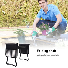 2021 Hot! Garden Folding Stainless Kneeler Multi-Functional Seat Removable with 2 Tool Bags EVA Kneeling Pad Gardening Gifts