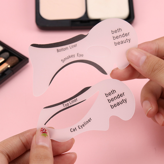 10PCS Eyeliner Stencil Fish Tail Double Wing Eyeliner Models Molding Template Tools Eyebrows Stencil DIY Makeup Tool 1