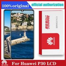 """Oryginalny wyświetlacz 6.1 """"z ramką zamiennik dla Huawei P30 LCD z ekranem dotykowym Digitizer zgromadzenie ELE L29 ELE L09 ELE AL00 ELE L04"""
