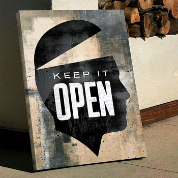 Text Canvas Painting Keep It Open Motivational Quote Hustle Artwork Wall Canvas Art Decor Wall Art Picture for Home Decor image